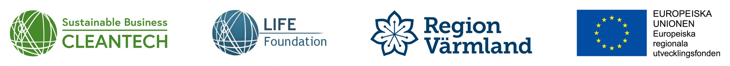 Logotyper till projektets huvudfinansiärer